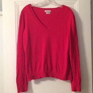 Lightweight red v-neck sweater